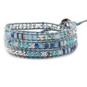 Jewelry - Victoria Emerson Blue&Silver Crystals On Sky Blue